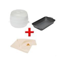 Пароварка для микроволновки + жаровня и силиконовый коврик