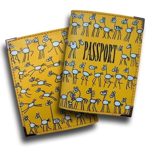 Дизайнерская обложка для паспорта Лошадки
