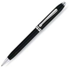 Черная шариковая ручка Cross Townsend с тонким корпусом