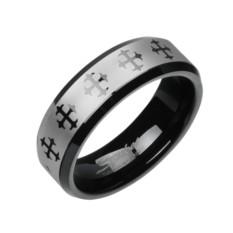Мужское кольцо из вольфрама Spikes Крест