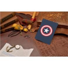 Кожаная обложка для паспорта Elole Design Капитан Америка