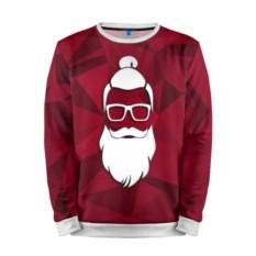 Мужской свитшот 3D Санта хипстер