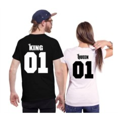 Парные футболки King 01, queen 01