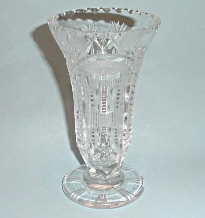 Антикварная ваза Богемский хрусталь