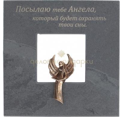 Квадратная подарочная плакетка Ангел