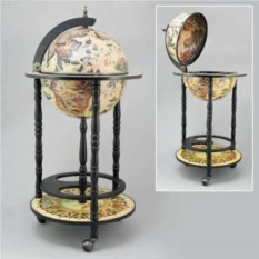 Бар на колесиках Глобус, диаметр 33 см