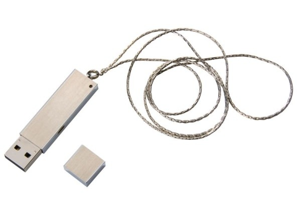 USB флешка Слиток, серебристая, на 16ГБ
