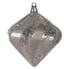 Елочная игрушка Алмаз серебрянного цвета