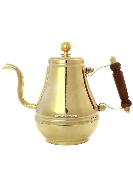 Заварочный латунный металлический чайник Москва на 0,9 л