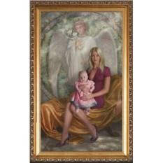Портрет мамы и новорожденной дочки