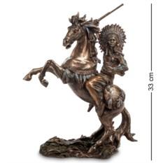 Статуэтка Индеец на коне (цвет — бронзовый)