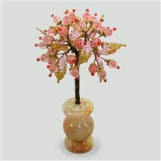 Дерево любви из халцедона в вазочке из оникса