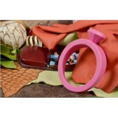 Розовый держатель для двери «Кольцо»