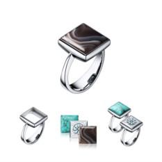 Кольцо со сменными вставками