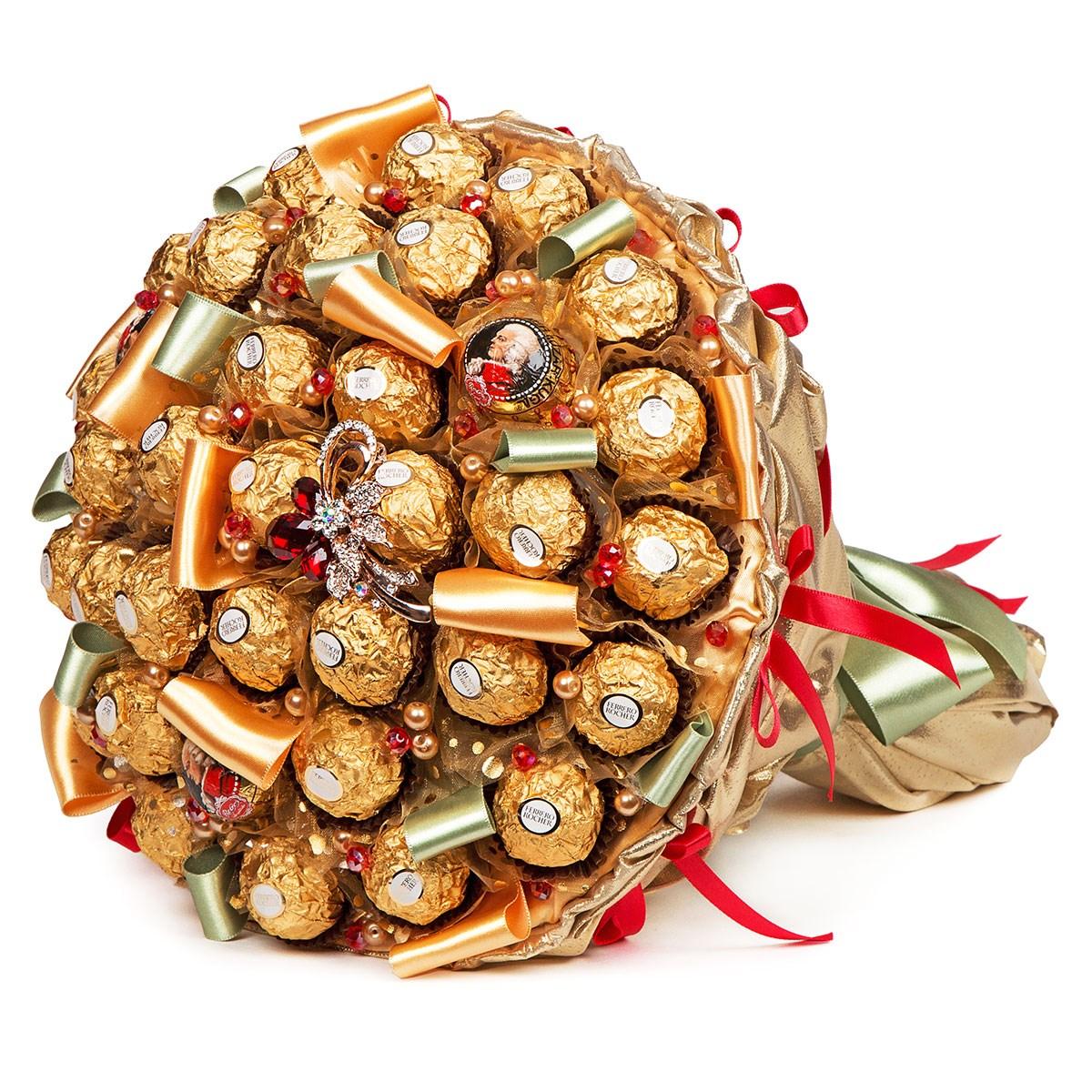 Букет из конфет купить одесса, цветы киров