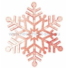 Елочная игрушка Снежинка красного цвета