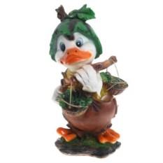 Декоративная садовая фигура Уточка с арбузом