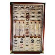Декоративное панно Морское с коричневой рамкой