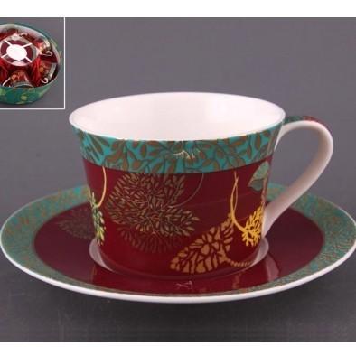 Чайный набор на 6 персон «Закат в джунглях»