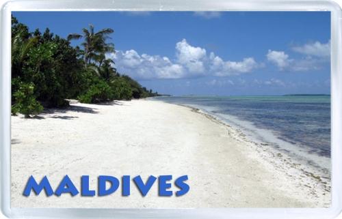 Сувенирный магнит: Мальдивы. Мальдивский пейзаж