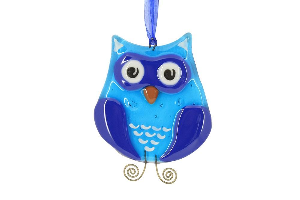 Интерьерная подвеска «Синяя сова»