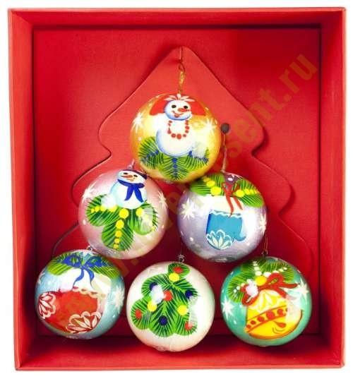 Набор елочных игрушек Новогоднее ассорти
