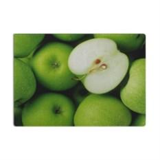 Разделочная 3D стеклянная доска Зеленые яблоки