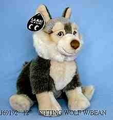 Мягкая игрушка Волк сидящий, Leonine