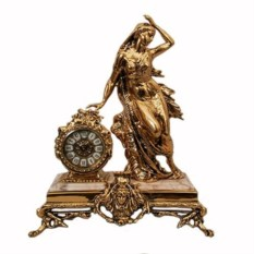 Часы на мроморной подставке из бронзы Античная дама