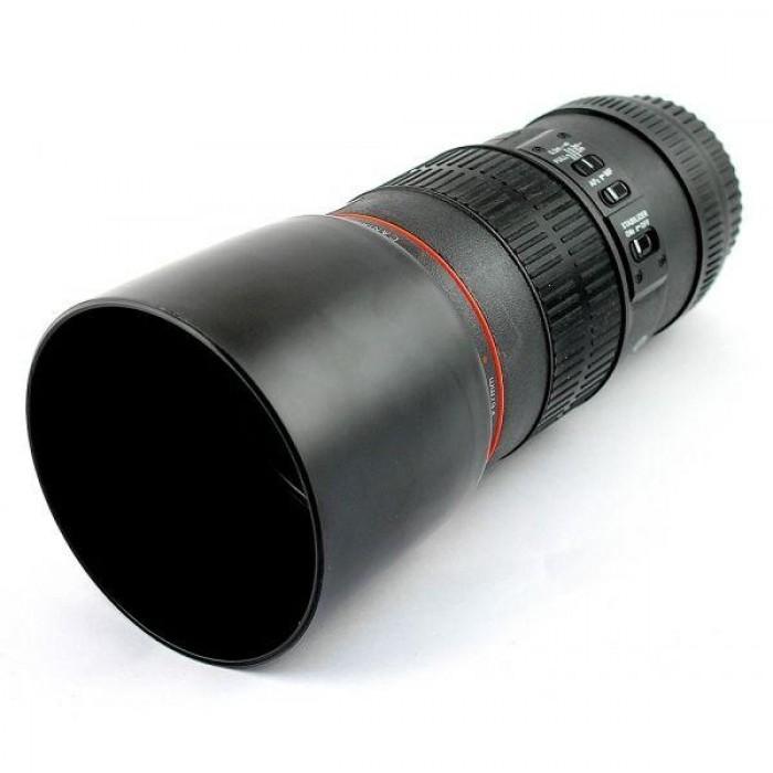 Термостакан в виде объектива от фотоаппарата с чашкой