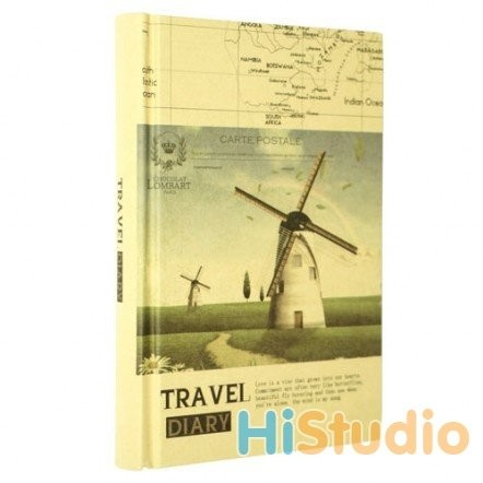 Блокнот винтажный Travel Diary. Мельница