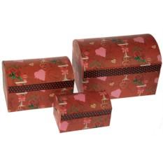 Комплект из трех коробок-сундучков
