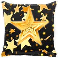 Подушка Желтые звезды