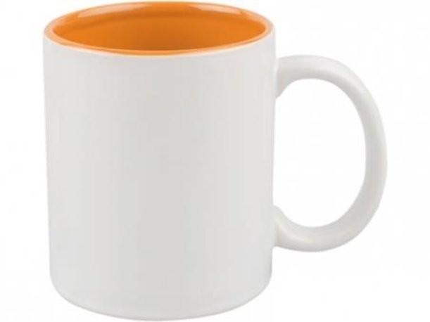 Оранжево-белая кружка на 320 мл