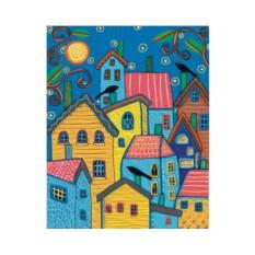 Картины по номерам «Сказочные домики»