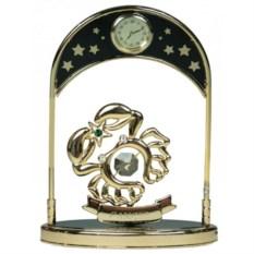 Декоративная фигурка с часами - знак Зодиака Рак
