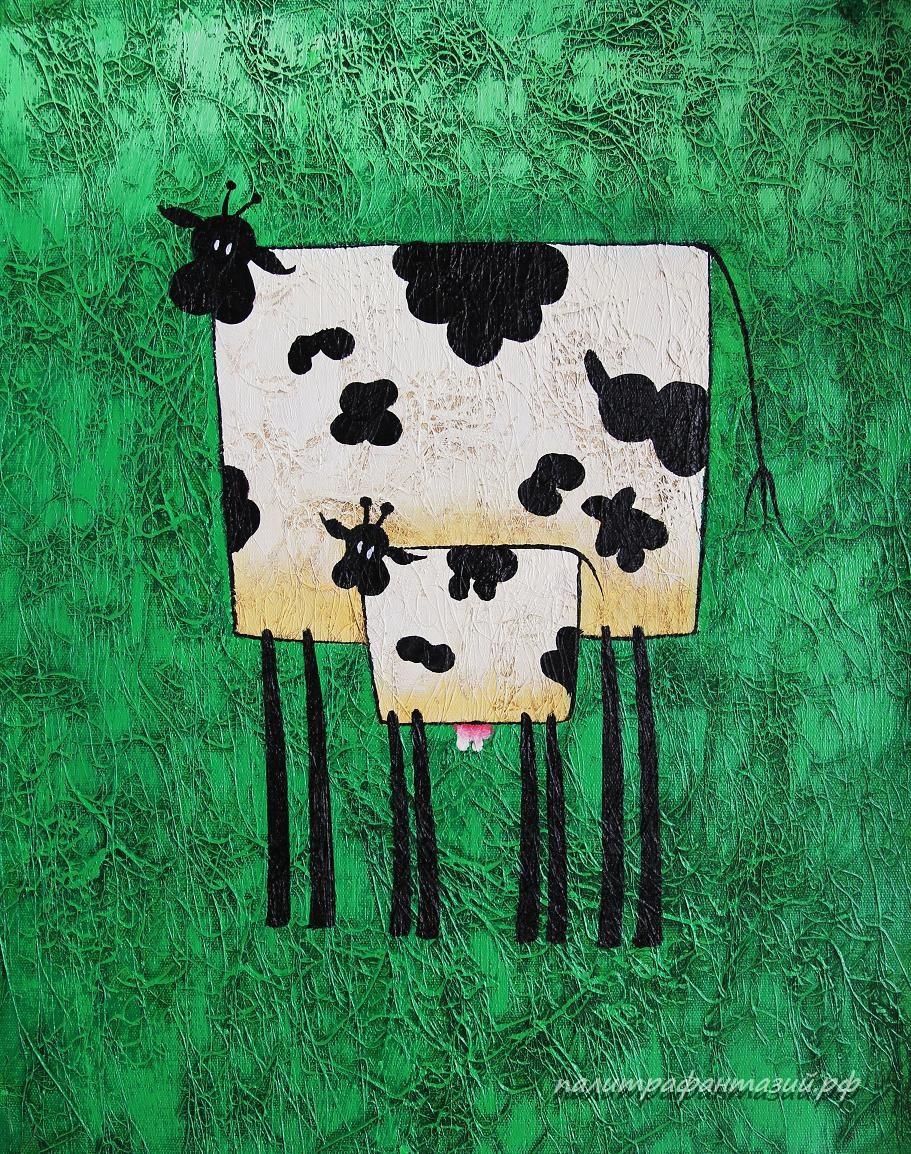 Картина Корова и теленок