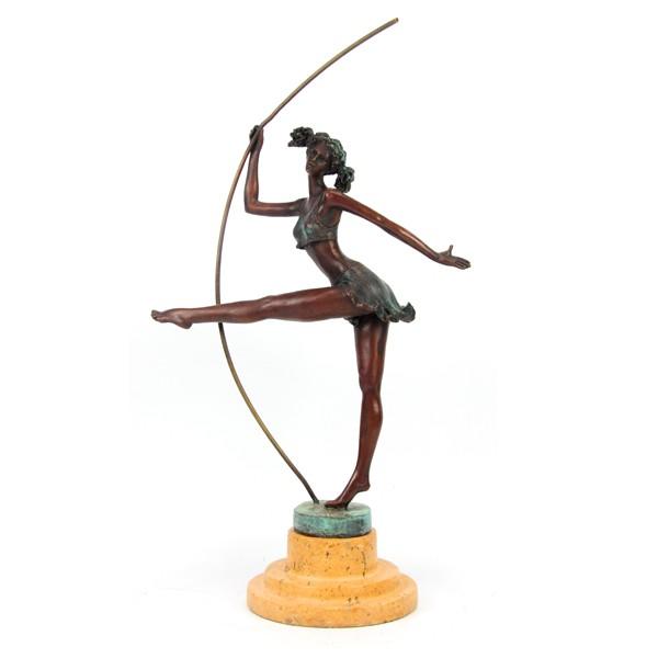 Бронзовая статуэтка Танцовщица с шестом