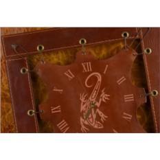 Часы из кожи Орнаментная ящерка (коричневый)