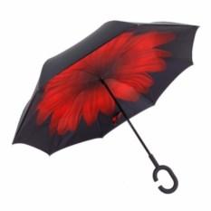 Зонт-наоборот Красный цветок