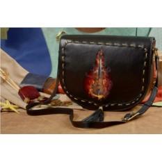 Женская сумка-седло Огненная гитара