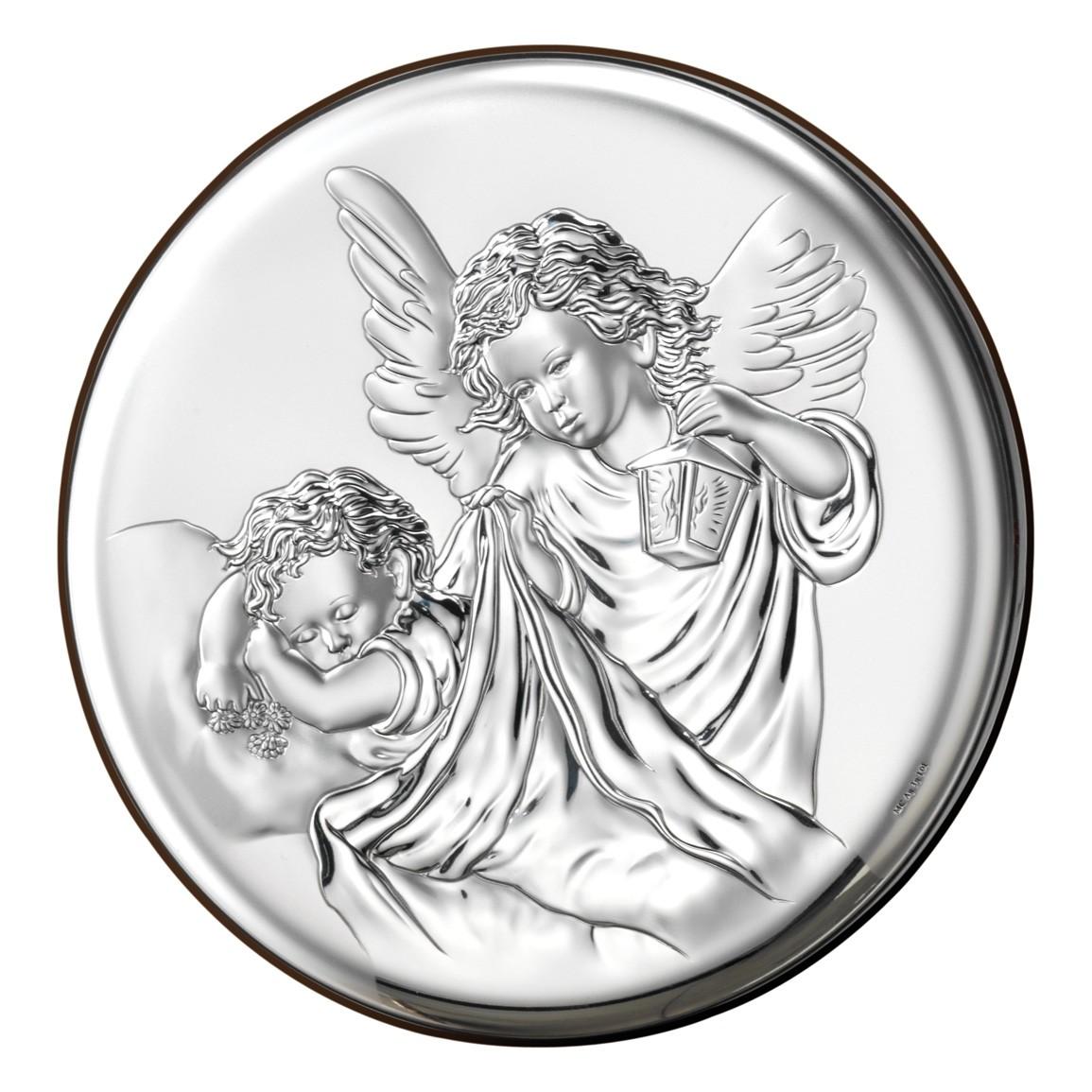 Медальон Ангел над ребенком