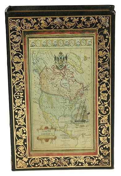 Шкатулка-книга Старинная карта