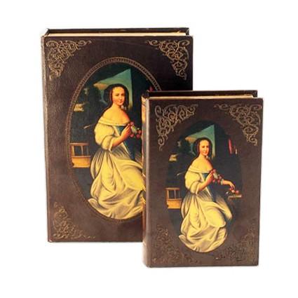 Набор из двух шкатулок-фолиантов «Прекрасная дама»