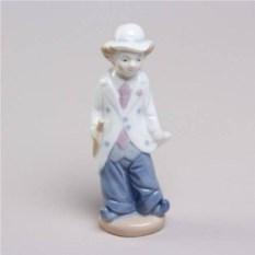 Декоративная фарфоровая статуэтка Клоун-Пьер