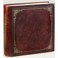 Терракотовый кожаный фотоальбом