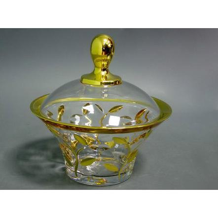 Конфетница с крышкой «Золотой лепесток»