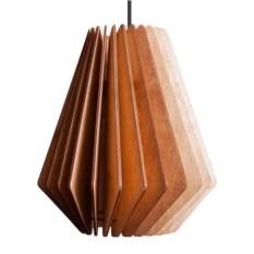Деревянный подвесной светильник Лампа Турбина