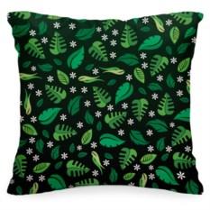 Декоративная подушка «Зелёные листья»