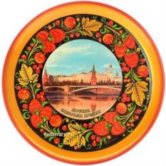 Тарелка-панно с росписью хохлома Москва